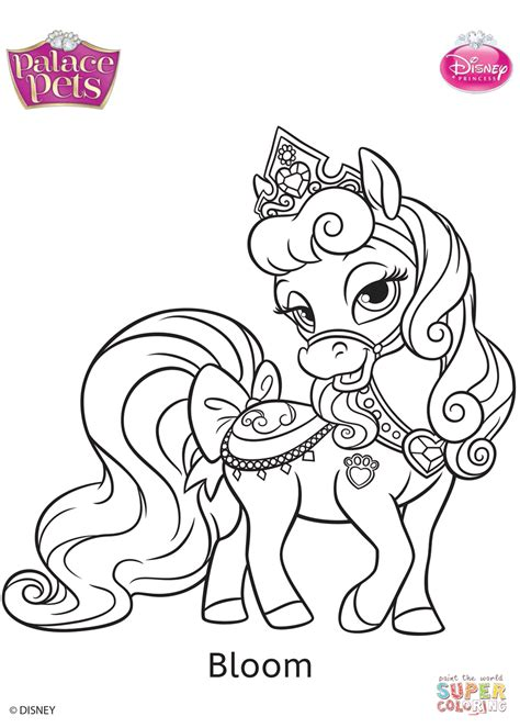 disney coloring pages doll palace palace pets bloom coloring page free printable coloring