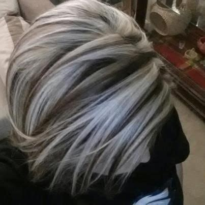 chocolate hair with platinum highlight pictures a heavy chunky platinum highlight highlights