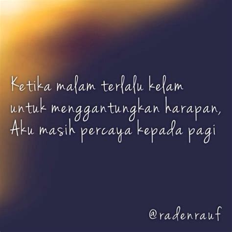 pagi adalah harapan quotes by me