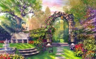 Backyard Sports Download Enchanting Garden Wallpapers Enchanting Garden Stock Photos