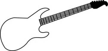 Guitar Clipart Outline by Guitar Outline Clipart Clipart Suggest