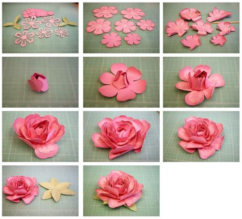 Directions For Paper Flowers - for 3d layered from the sil store http
