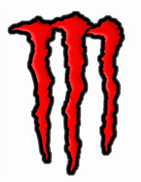 Monster Energy Sticker Rot by Red Monster Energy Stickers Clipart Best
