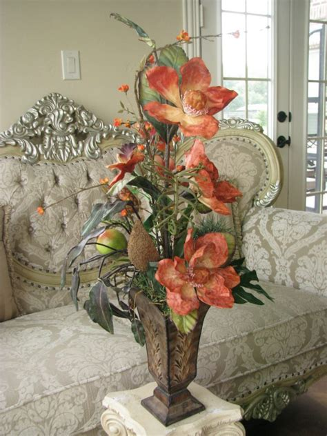 decorative floral arrangements home home decor decorating home ideas using fresh silk floral
