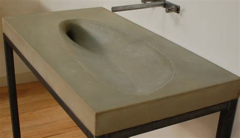 cement bathroom sink concrete leaf sink modern bathroom sinks miami by
