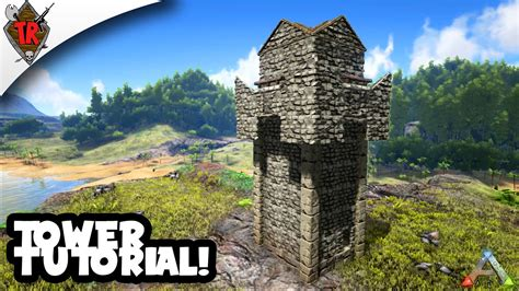 Turret House Plans by Ark Survival Evolved Tower Tutorial Youtube