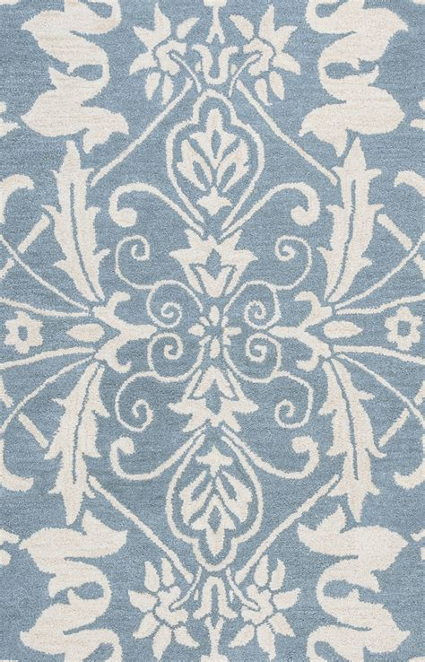 damask runner rug marianna fields ornate damask pattern wool runner rug in blue white 2 6 quot x 8