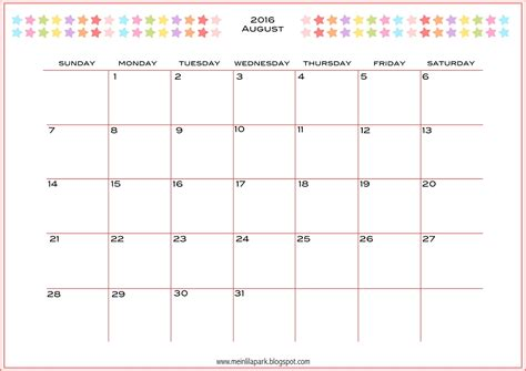 printable monthly day planner 2016 6 best images of calendar 2016 printable monthly planner