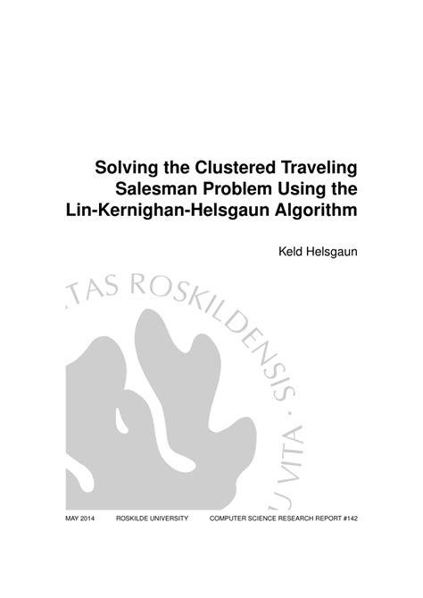 solving  clustered traveling salesman problem