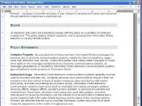 information technology policy template how to write an information security policy in 5 minutes