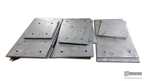 Kitchen Backsplashes steel plates with pre drilled holes for parts fabrication