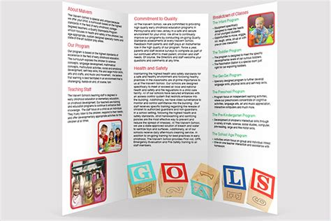 daycare brochure template 17 daycare brochure templates free design ideas