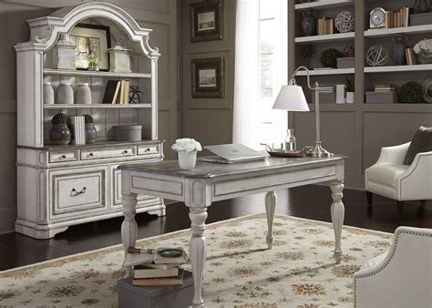 white home office furniture sets magnolia manor antique white home office set from liberty