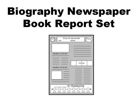 Newspaper Book Report Historical Fiction by Biography Book Report Newspaper Other Files Documents And Forms