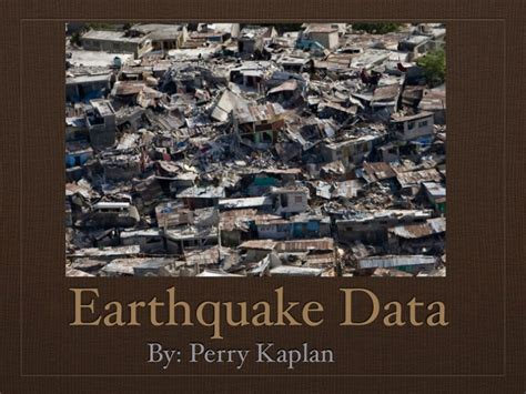 earthquake data earthquake data