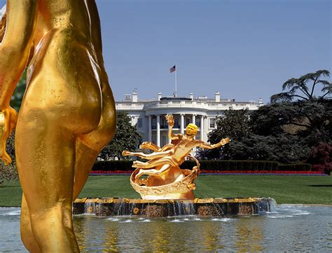 donald trump house donald trump unveils new white house garden design
