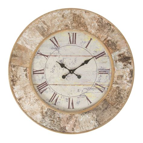 large wall clocks buy talwood bark large wooden wall clock online purely