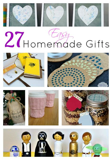 Easy Handmade Gifts - 27 easy gifts for s day