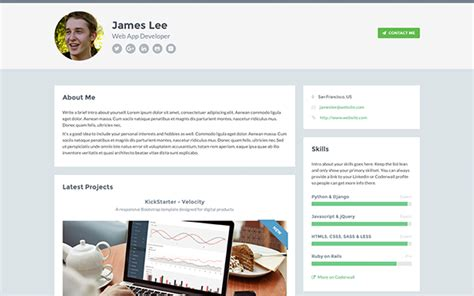 Free Responsive Website Template For Developers Free Ux Portfolio Template