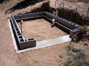 Cinder Block Shed Foundation by Alt Build Building A Well House 1 Rubble Fill