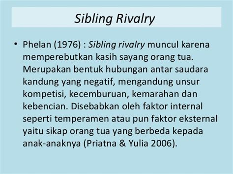 hubungan antar saudara