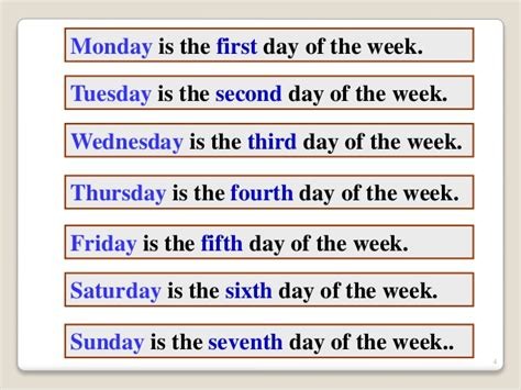 what is the day today of week meses y a 241 os en ingles