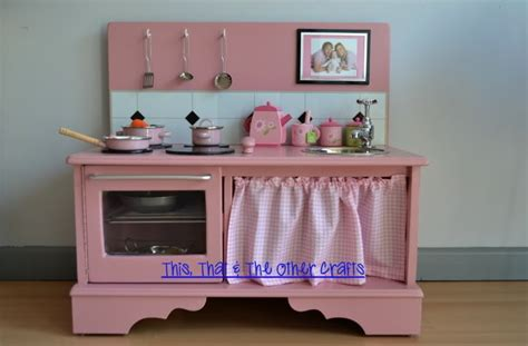 Handmade Wooden Play Kitchen - this that and the other crafts handmade wooden play