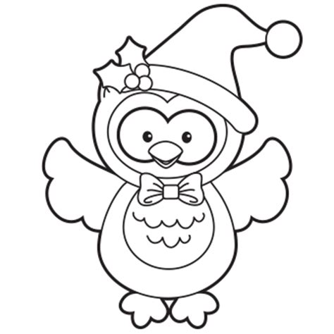 holiday owl coloring page free christmas recipes