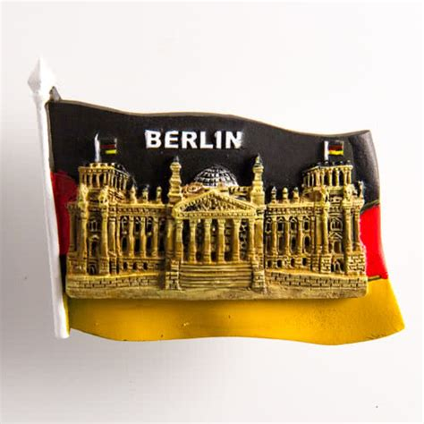 resin fridge magnet germany berlin german flag and reichstag building