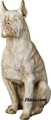 large boxer dog statue
