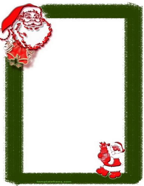 free printable santa letter borders writing paper with borders for christmas letter essay