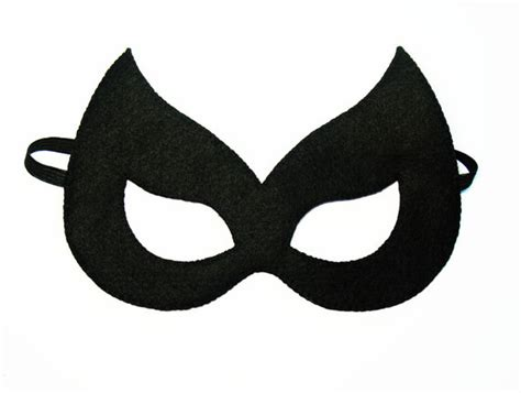catwoman felt mask 2 years adult size black cat halloween