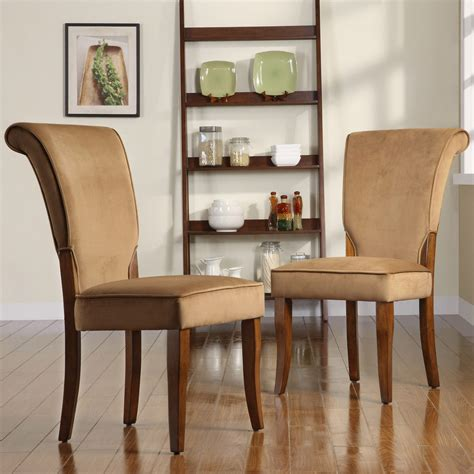 Tribecca Home Dining Chairs Tribecca Home Andorra Peat Velvet Upholstered Dining Chair Set Of 2 Overstock Shopping