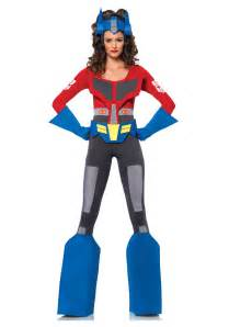 transforming halloween costume womens transformers optimus prime costume
