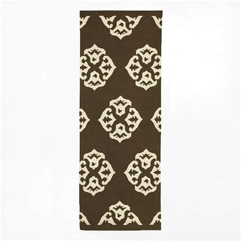 Andalusia Rug by Andalusia Wool Dhurrie Espresso West Elm
