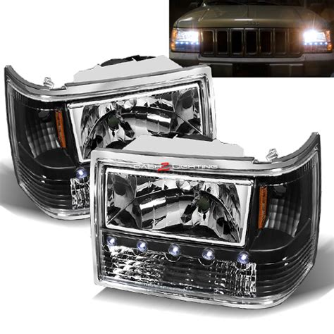 97 Jeep Headlights 97 98 Jeep Grand Led Lights Chrome