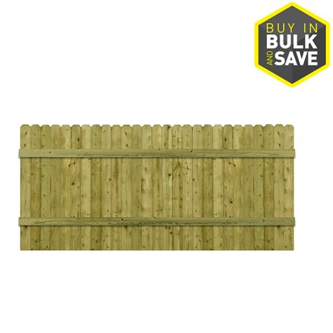 lowes ear fence shop barrette 3 5 ft x 8 ft spruce ear wood fence panel at lowes
