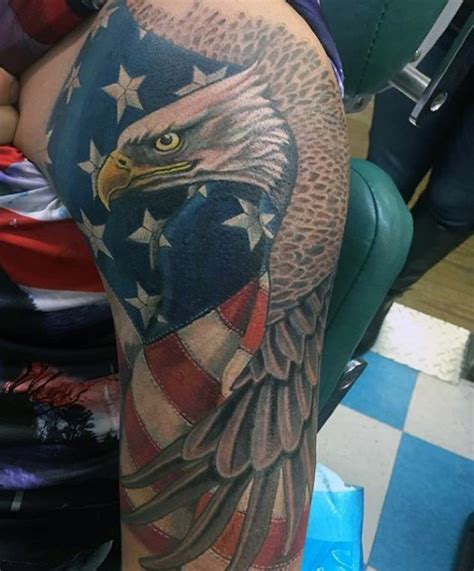 eagle flag tattoo american flag eagle on sleeve for