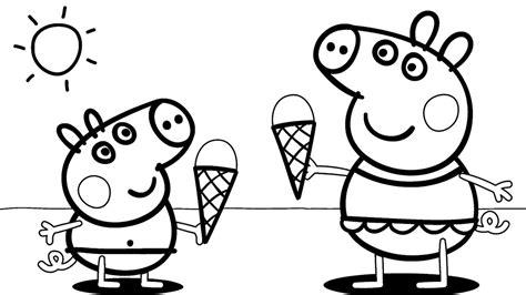 peppa pig at the beach coloring pages desenhos para colorir peppa pig 45 op 231 245 es para imprimir