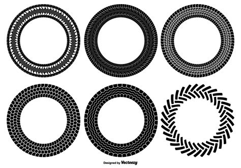 round tire track shapes download free vector art stock