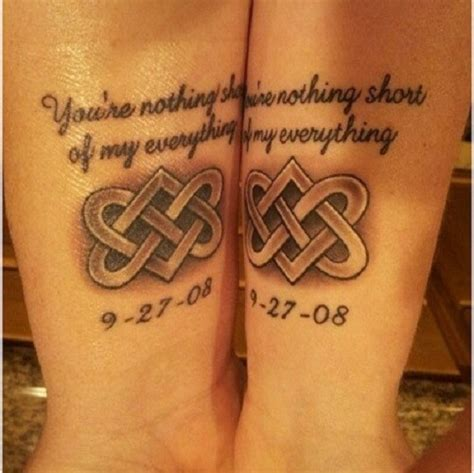 couple celtic friendship tattoos tattooimages biz