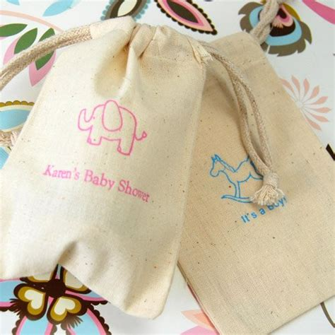 Cotton Baby Shower Favors by Personalized Cotton Baby Shower Favor Bag