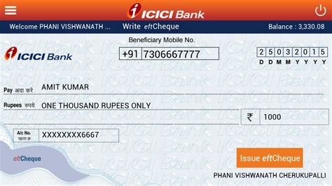 bank chequ icici bank eftcheques android apps on play