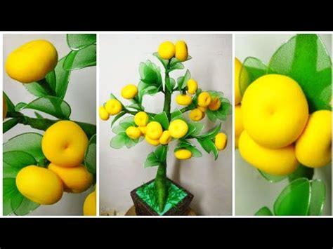 88 ide kreatif cara membuat pohon jeruk dari stoking nylon stocking orange tree youtube