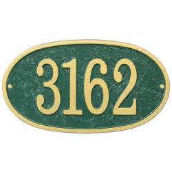 house number plaque oval fast and easy in house number