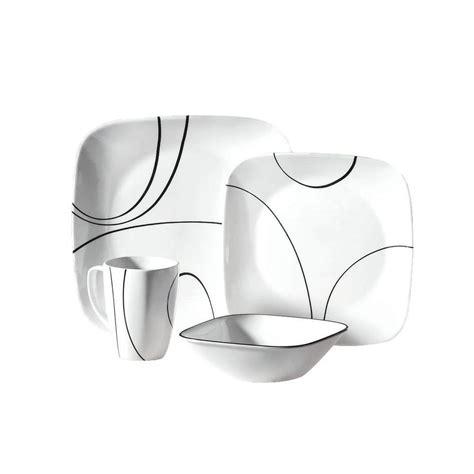 corelle squared pattern dinnerware corelle country cottage 16 piece vitrelle dinnerware set
