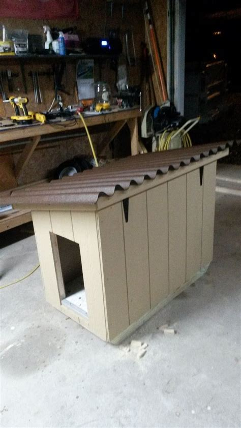 hinged roof dog house insulated doghouse with hinged roof and linoleum flooring for easy clean up insulated