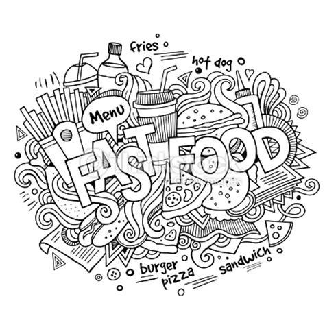 fast food doodle god fast food lettering and doodles elements background