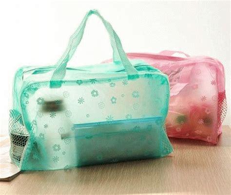jual tas kecil warna transparan motif bunga ramayana