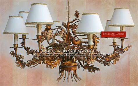 Chandeliers Ikea Lampadario Quercia In Oro Antico Gbs Illuminazione